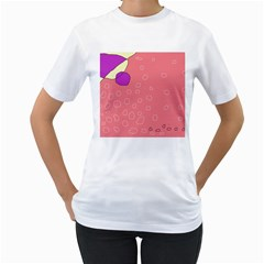 Pink abstraction Women s T-Shirt (White) (Two Sided)