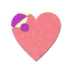 Pink abstraction Heart Magnet