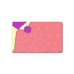 Pink abstraction Magnet (Name Card)