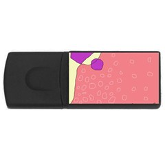 Pink abstraction USB Flash Drive Rectangular (2 GB)