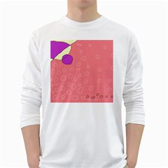Pink abstraction White Long Sleeve T-Shirts
