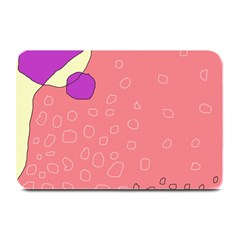 Pink abstraction Plate Mats