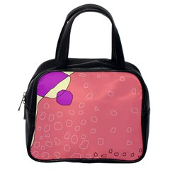 Pink Abstraction Classic Handbags (one Side)