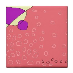 Pink abstraction Face Towel