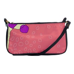 Pink abstraction Shoulder Clutch Bags