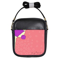 Pink abstraction Girls Sling Bags