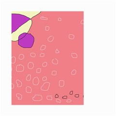 Pink abstraction Small Garden Flag (Two Sides)