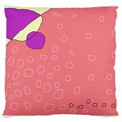 Pink abstraction Large Cushion Case (One Side)