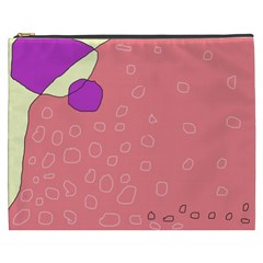 Pink abstraction Cosmetic Bag (XXXL)