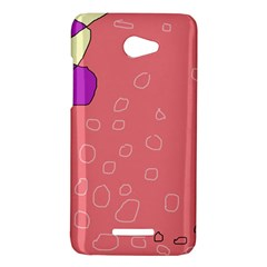 Pink abstraction HTC Butterfly X920E Hardshell Case