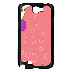 Pink abstraction Samsung Galaxy Note 2 Case (Black)