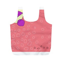 Pink abstraction Full Print Recycle Bags (M)