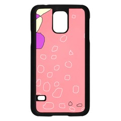 Pink abstraction Samsung Galaxy S5 Case (Black)