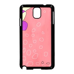 Pink abstraction Samsung Galaxy Note 3 Neo Hardshell Case (Black)