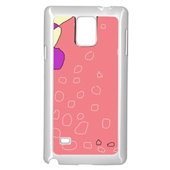 Pink abstraction Samsung Galaxy Note 4 Case (White)