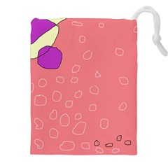 Pink abstraction Drawstring Pouches (XXL)