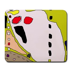 Yellow abstraction Large Mousepads