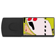 Yellow abstraction USB Flash Drive Rectangular (1 GB)