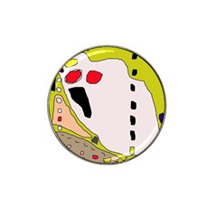 Yellow abstraction Hat Clip Ball Marker (10 pack)