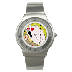 Yellow abstraction Stainless Steel Watch