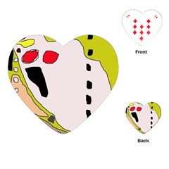 Yellow abstraction Playing Cards (Heart)