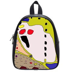 Yellow abstraction School Bags (Small)