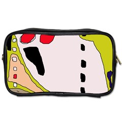 Yellow abstraction Toiletries Bags 2-Side