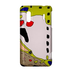 Yellow abstraction HTC Evo Design 4G/ Hero S Hardshell Case