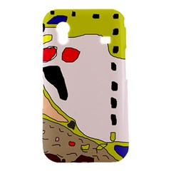 Yellow abstraction Samsung Galaxy Ace S5830 Hardshell Case