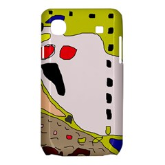 Yellow abstraction Samsung Galaxy SL i9003 Hardshell Case