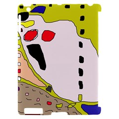 Yellow abstraction Apple iPad 2 Hardshell Case (Compatible with Smart Cover)