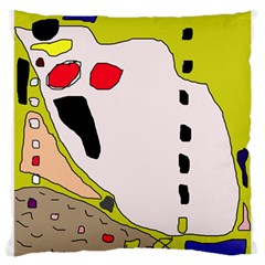 Yellow abstraction Large Cushion Case (Two Sides)