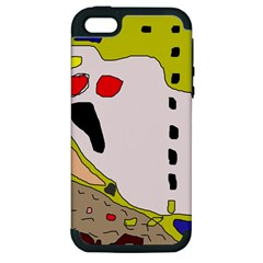 Yellow abstraction Apple iPhone 5 Hardshell Case (PC+Silicone)