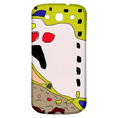Yellow abstraction Samsung Galaxy S3 S III Classic Hardshell Back Case