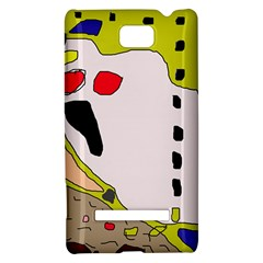 Yellow abstraction HTC 8S Hardshell Case