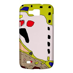 Yellow abstraction Samsung Galaxy Premier I9260 Hardshell Case