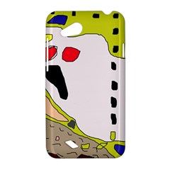 Yellow abstraction HTC Desire VC (T328D) Hardshell Case