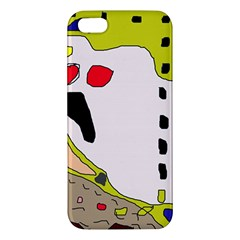 Yellow abstraction iPhone 5S/ SE Premium Hardshell Case