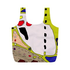 Yellow abstraction Full Print Recycle Bags (M)