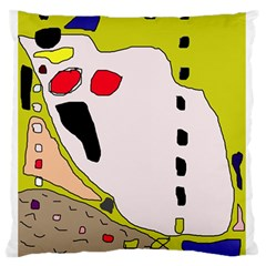 Yellow abstraction Standard Flano Cushion Case (Two Sides)