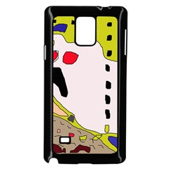 Yellow abstraction Samsung Galaxy Note 4 Case (Black)