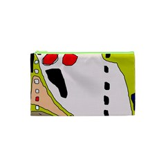 Yellow abstraction Cosmetic Bag (XS)
