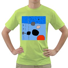 Blue abstraction Green T-Shirt