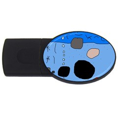 Blue abstraction USB Flash Drive Oval (1 GB)