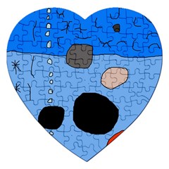 Blue abstraction Jigsaw Puzzle (Heart)