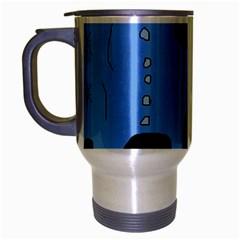 Blue abstraction Travel Mug (Silver Gray)