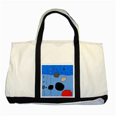 Blue abstraction Two Tone Tote Bag