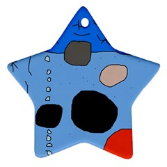 Blue abstraction Star Ornament (Two Sides)