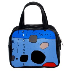 Blue abstraction Classic Handbags (2 Sides)
