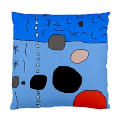 Blue abstraction Standard Cushion Case (Two Sides)